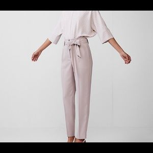 New express high waisted tie waist pant